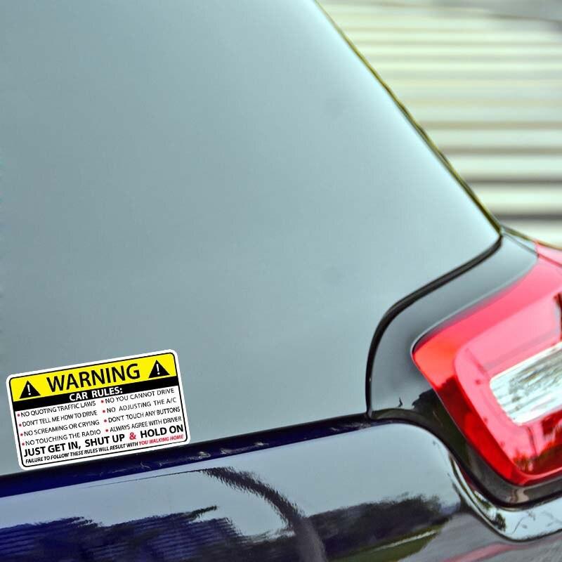 Image 4 - YJZT 2X 10,2 см * 5,7 см Предупреждение правила безопасности наклейка ПВХ автомобильный стикер 12 0585-in Наклейки на автомобиль from Автомобили и мотоциклы