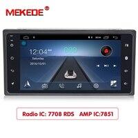 MEKEDE автомобиля DVD gps плеер для Toyota Hilux Camry Corolla Prado RAV4 Радио стерео в тире Руль управления картой rds am/fm bt