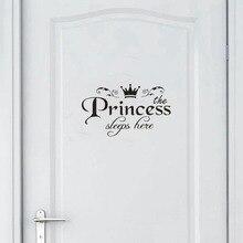 Дропшиппинг принцесса домашний декор наклейка двери спальни виниловая художественная Фреска