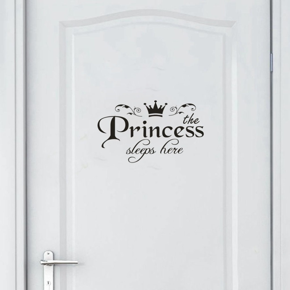 Dropshipping Princess Home Decor Sticker Decal Bedroom Door Vinyl Art Mural