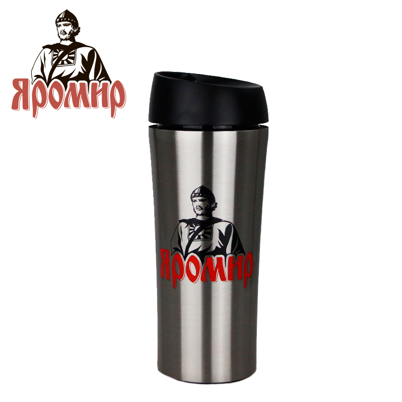 YAROMIR YAR-2400M Hot cup 400ml Vacuum Flask Thermose Travel Sports Climb Thermal Pot Insulated Vacuum Bottle Stainless Steel korean penguin vacuum cup water bottle mug coffee tea stainless steel thermos food jar thermal container insulated soup holder