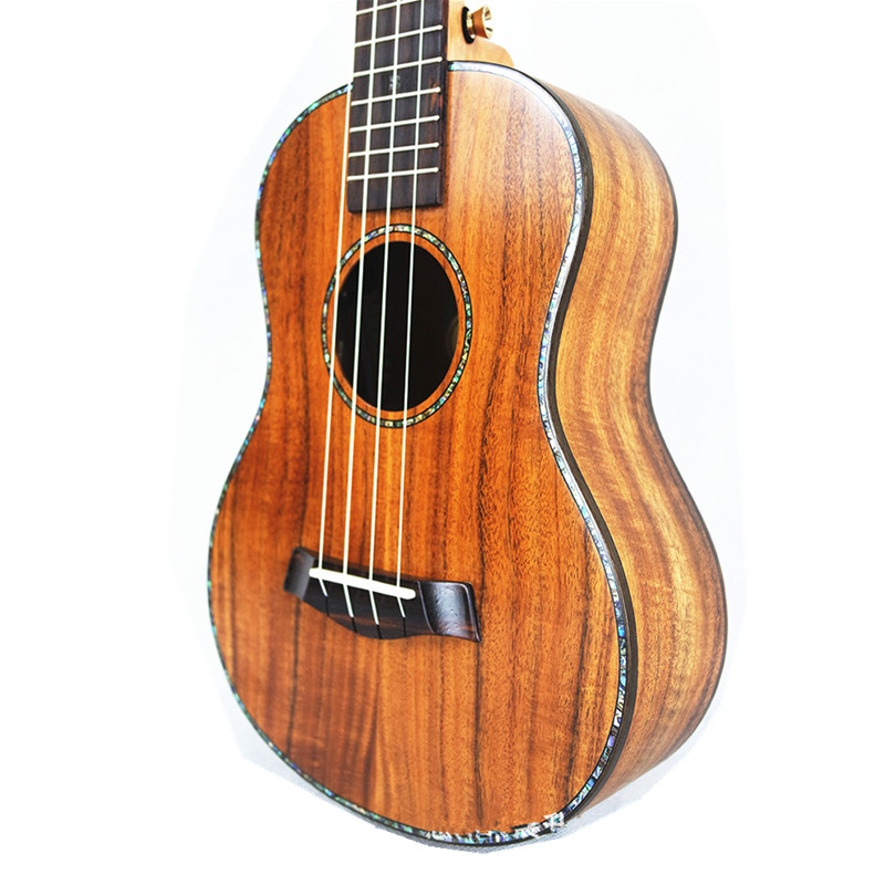 23 inch Professional Ukulele All Solid Wood Sweet Acacia KOA 4 strings Hawaiian Mini Guitar Electric Ukelele 23 with Pickup EQ
