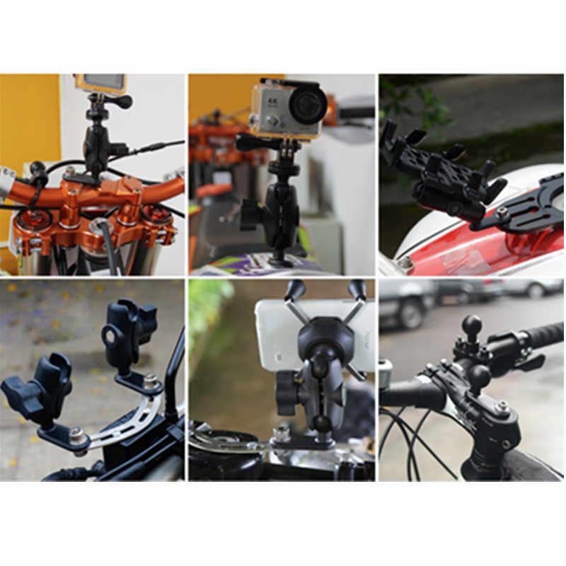 Мотоциклетный руль тормоза сцепления управления база Combo U Болт крепление с 1 дюймов резиновое шариковое крепление для Ram для Gopro Cam