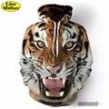 \ Línea Walker \ 2016 La cara del tigre de Impresión 3D Animal Unisex Sudaderas Con Capucha Sudadera Hombres Chaqueta Con Capucha Homber Tarcksuit