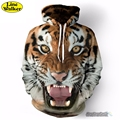 \ Line Walker \ 2016 A cara do tigre Impressão 3D Animal Unisex Camisola Hoodies Men Jaqueta Com Capuz Homber Tarcksuit