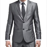 2016 New Men Suits Jacket Pants Tie Fit Tuxedo Brand Fashion Bridegroon Business Formal Dress Wedding