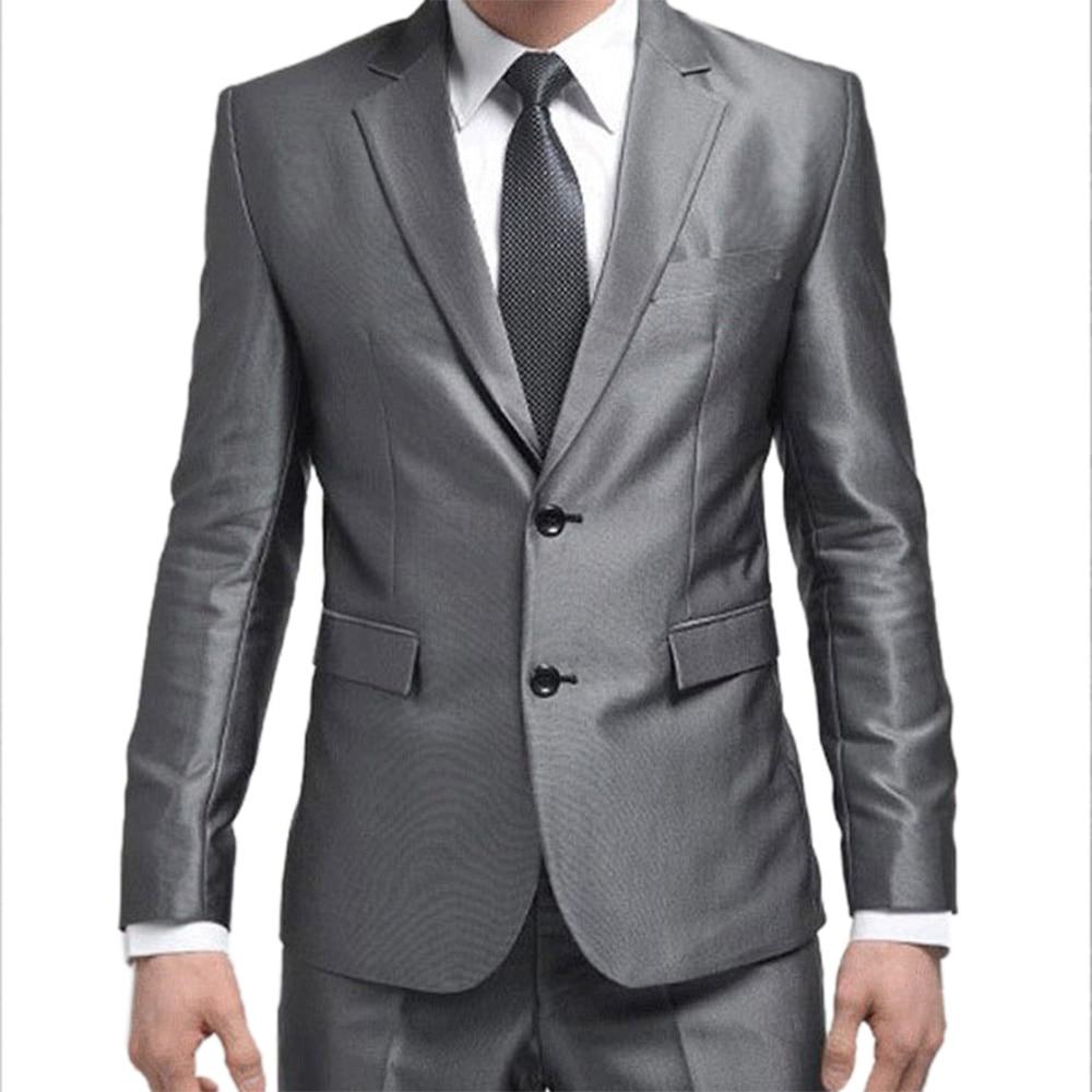 Formal Custom Mens Suits 2016 New Best Man Suit Silver Grey Wedding Suits For Men Groom Tuxedos Bridegroom (Jacket+Pants+Tie)