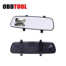 2.4 Pulgadas de Pantalla LCD Espejo Retrovisor Dash Cam Visión Nocturna Cámara Auto del coche DVR Portátil de Coches de Visión Trasera Grabadora JC10