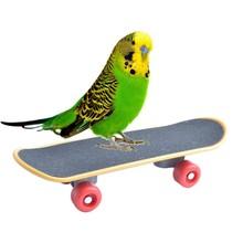 Птица Попугай стоячие качели спортивные игрушки для попугая попугаи мини Kateboard птицы принадлежности