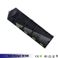 15W Solar Charger High Efficiency Single Crystal Silicon Solar Panel With Dual USB Port Waterproof Foldable