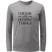 Game Of Thrones Tyrion Lannister I Drink And I Know Things Punk Tee Tops Men S