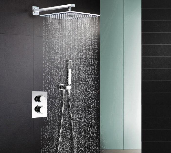 Thermostatic Shower Mixer Valve Set Thermostat Mixing Valve Handheld Bathroom Product Bath Shower Set Shower Systems everso thermostatic mixing valve bathroom shower set thermostatic control shower faucet shower mixer