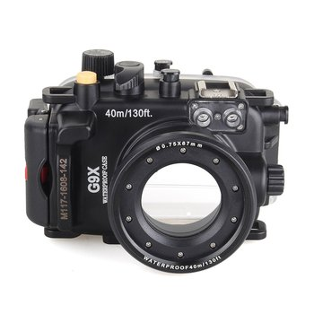 Meikon 40m/130ft Underwater Diving Camera Housing for Canon G9X