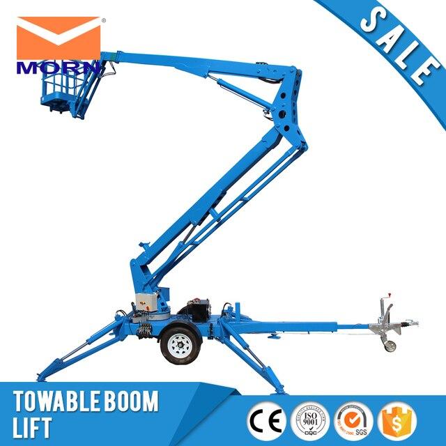 8m ATB0.2-8 trailer boom lift AC power 200 kg small mini towable