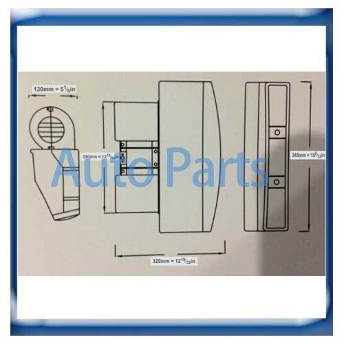 Универсальный под тире AC Испарительный агрегат модель BEU-202-100 30-0132-BLK