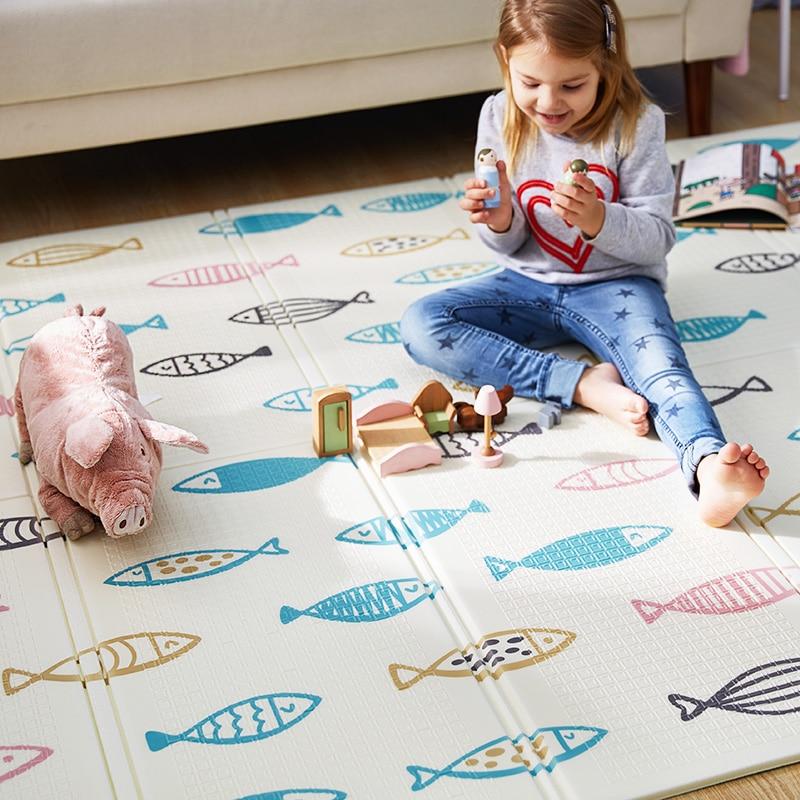 Tapis de jeu bébé Xpe Puzzle tapis pour enfants épaissi Tapete Infantil bébé chambre ramper Pad tapis pliant tapis bébé - 4