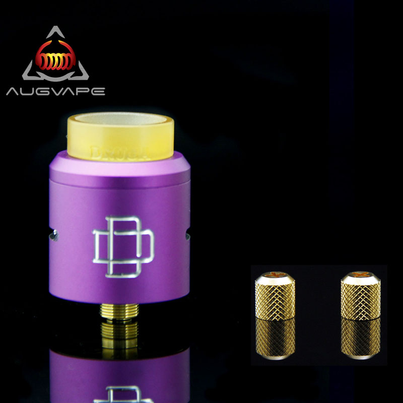 Augvape Original Druga RDA with Replacement Nuts 24mm Clamp Snag System Large Coil Space Electronic Cigarette Atomizer Tank RDA духовой шкаф electrolux eob55450ax серебристый