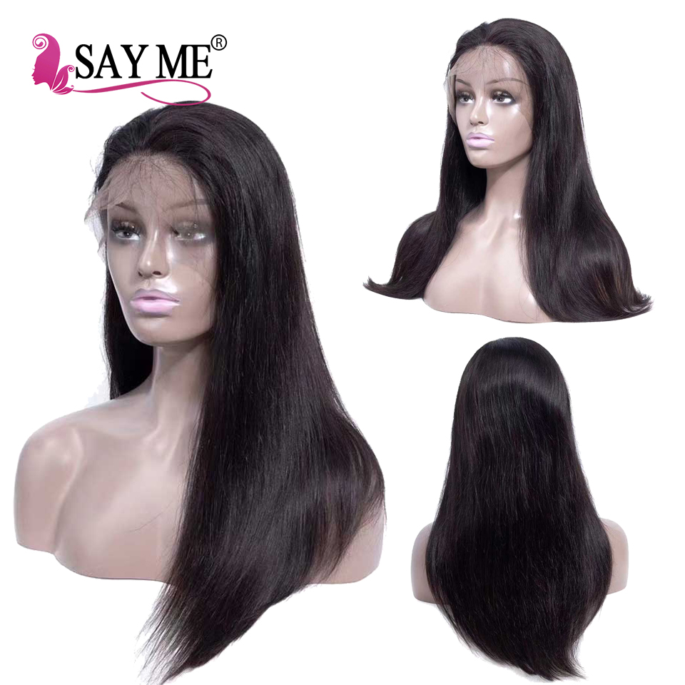 Image 3 - 13x4 Long Lace Front Human Hair Wigs Pre Plucked Non Remy Free Part Brazilian Straight Lace Wig With Baby Hair For Black Women-in Human Hair Lace Wigs from Hair Extensions & Wigs
