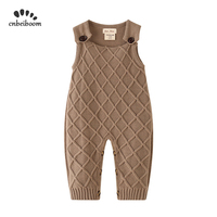 Baby Girl Romper Jumpsuit knitting Sweater Cotton overalls 1 2 Birthday Outfits infant 2019 Winter Autumn kids Clothes rompers