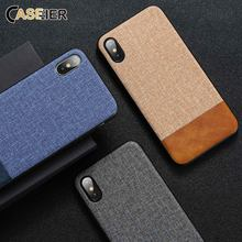 CASEIER Cases For iPhone X 7 8 6 6S Plus PU Leather Cases For iPhone 11 pro Max X XS Max XR Soft Edge Cloth Back Covers Fundas missbuy for apple iphone 11 pro max x xs max xr 8 7 6s 6 plus case plush warm fashion soft back cover cases fundas for iphone 11
