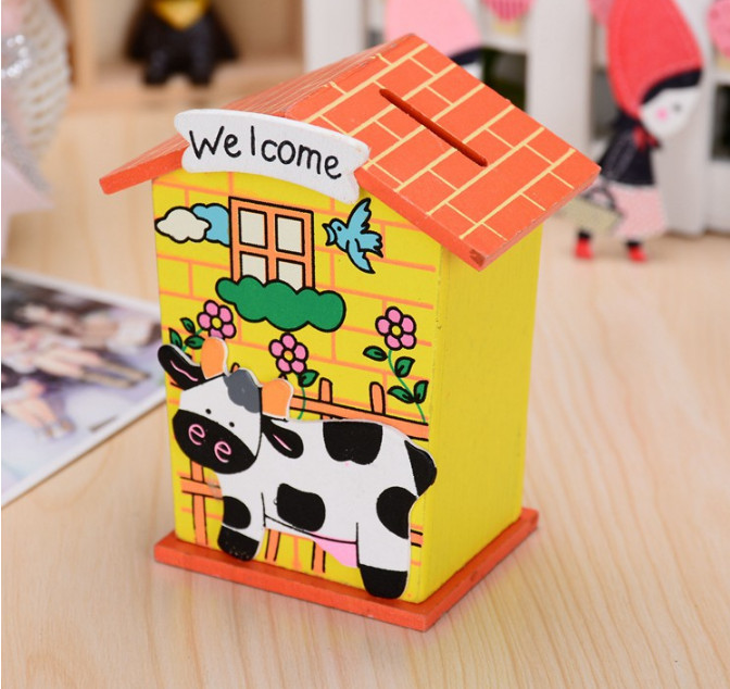 Lovely house small Coin change storage money box Piggy Bank Storage Jar Jewerly Piggy Bank kids Birthday gift desk decoration