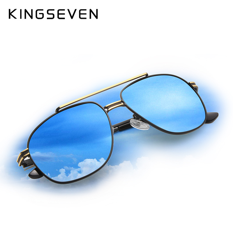 KINGSEVEN Brand Classic Polarized Sunglasses Men Driving Alloy Frame - Apparel Accessories - Photo 2