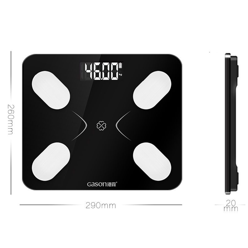 Image 2 - GASON S3 Body Fat Scale Floor Scientific Smart Electronic LCD Digital Weight Bathroom Balance Bluetooth APP Android or IOS-in Bathroom Scales from Home & Garden