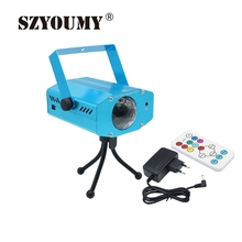 Buy online SZYOUMY 12W LED Laser Pointer Disco Light Party Pattern Home Christmas Laser Projector RGBW Stage Lighting With Remote