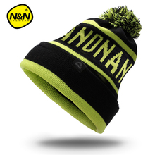 NANDN Autumn winter  hat unisex knitted Skullies run cap ski  cap