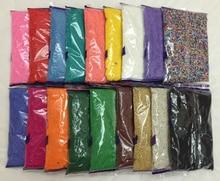 Cuentas espaciadoras checas de cristal de Murano para fabricación de joyas, 450g, 2mm, 18 colores, envío gratis