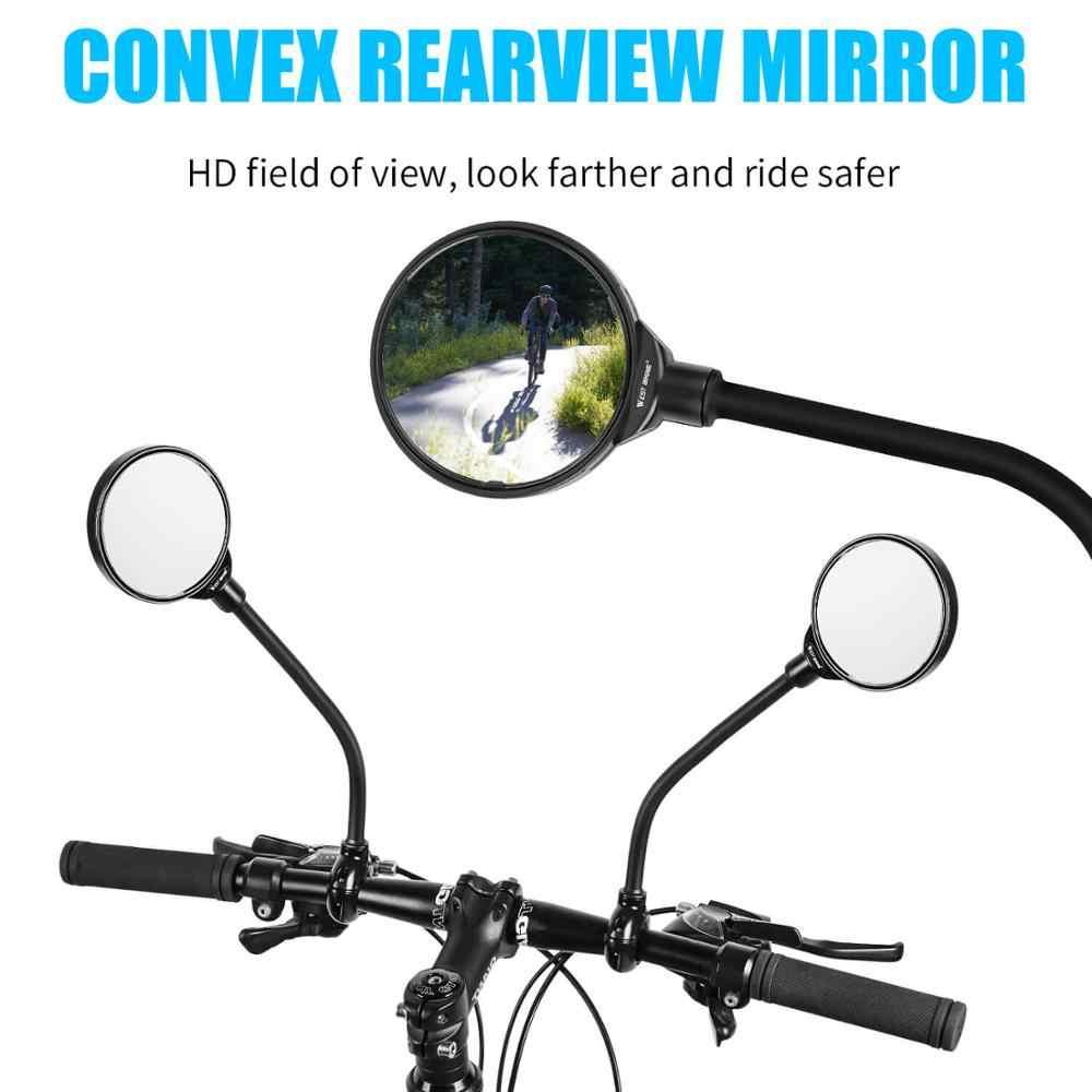 Universal 1Pcs Bicycle Motorcycle Rearview Mirror Adjustable Large Screen Mirror