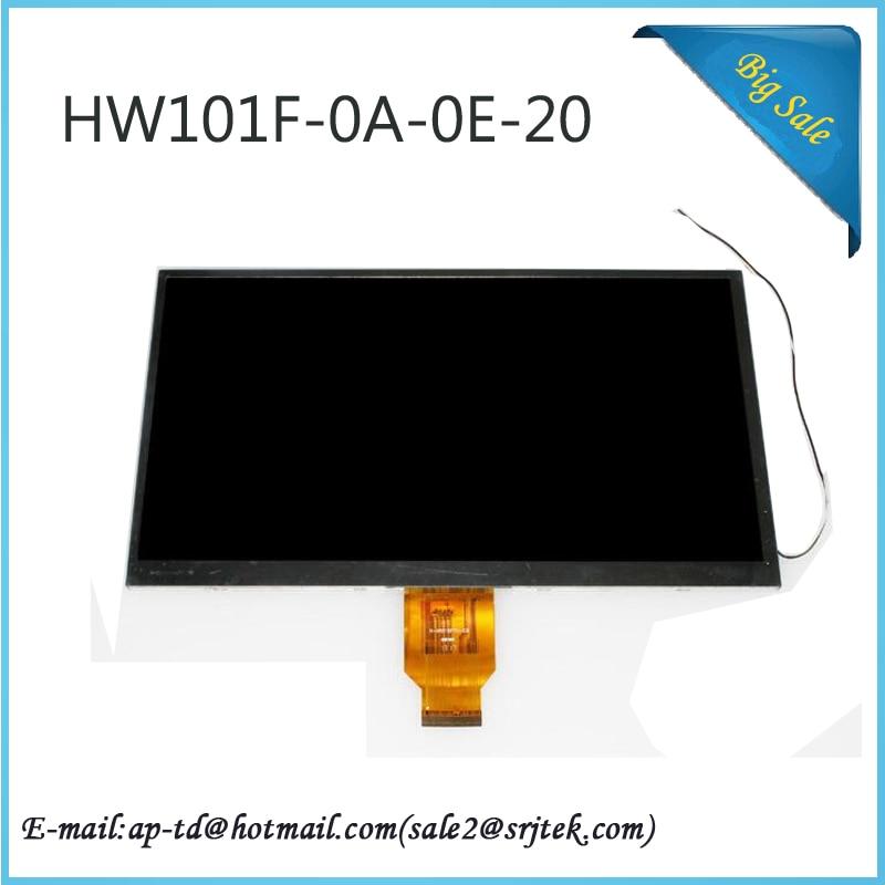 10.1 HW101F-0A-0E-10 HW101F-0A-0E-20 HW101F TFT LCD Display screen 1024*600 for ALLWINNER A10 A13 Tablet PC Repairment Parts