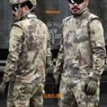 Nomad1/4 Cremallera Ripstop Cuello Mandrain Kryptek Camo Tactical Combat camisa de manga larga Camisa Typhon policía Combat shirt