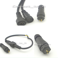 50pcs Lot 3pin Female Male Plug Waterproof 3x0 75SQMM Led Light Strip Cable IP68 Waterproof Connector