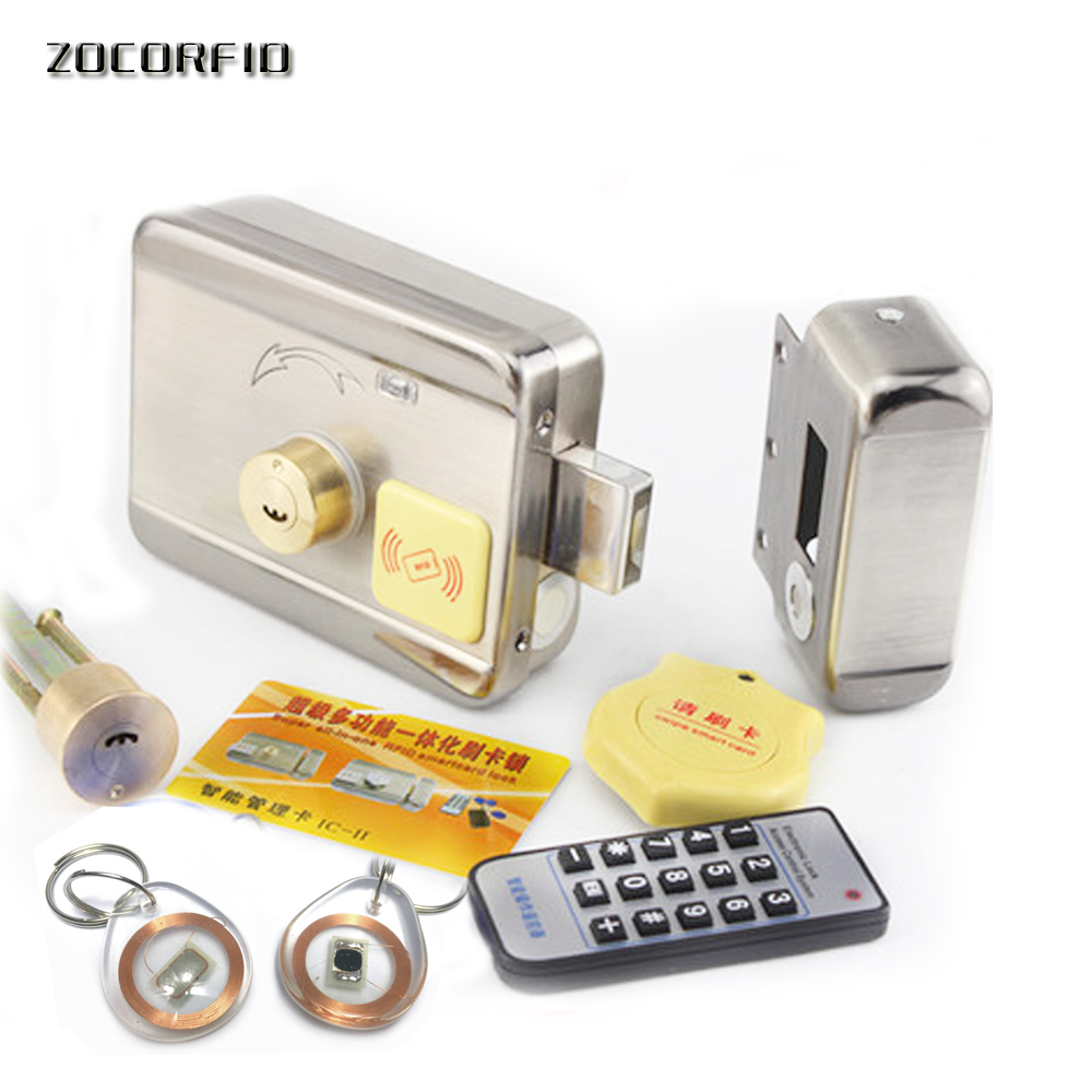DIY access control Electric Lock, RFID125KHZ LOCK with Remote or administrator registration user+10pcs crystal keyfobs кальсоны user кальсоны