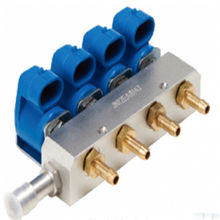 Bicos Mimgas LPG/CNG Rail de Injeção para Sistemas de 4 Cilindros de Injeção Multiponto Seqüencial