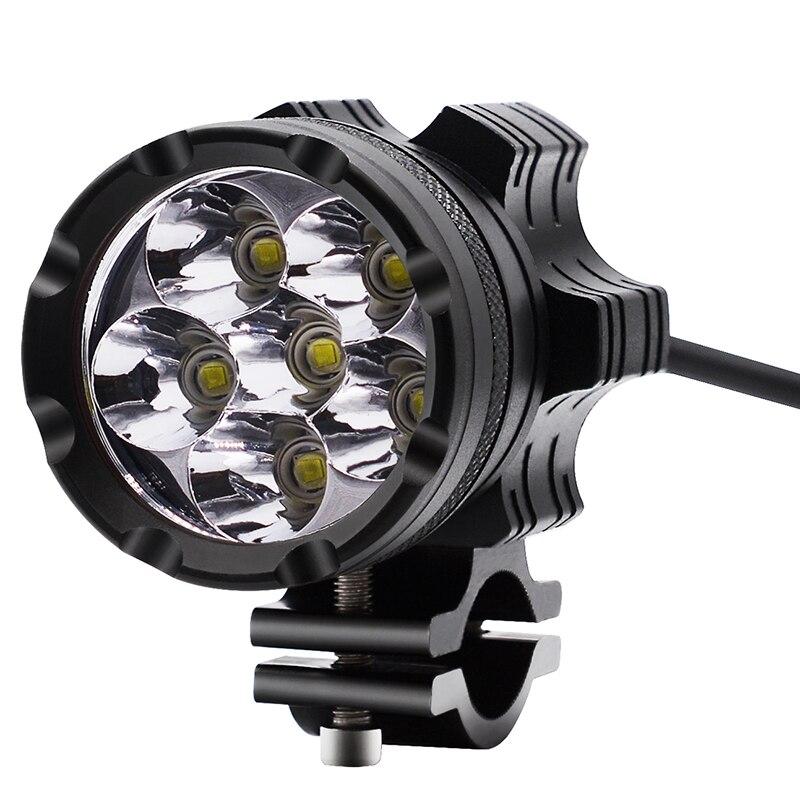 1 pcs LED Moto Ampoule de Phare Moto Travail Lumière 9-48 v 30 w 6500 k Blanc Scooters Brouillard spotlight LED Moto Phares