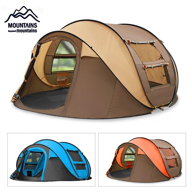Tente automatique extérieure 3-4 personnes imperméable à l'eau tente familiale automatique jeter Pop-up Camping randonnée tente