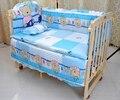 Детские кроватки постельных принадлежностей 5 шт. хлопок материал jogo де кама кроватки бампер включены