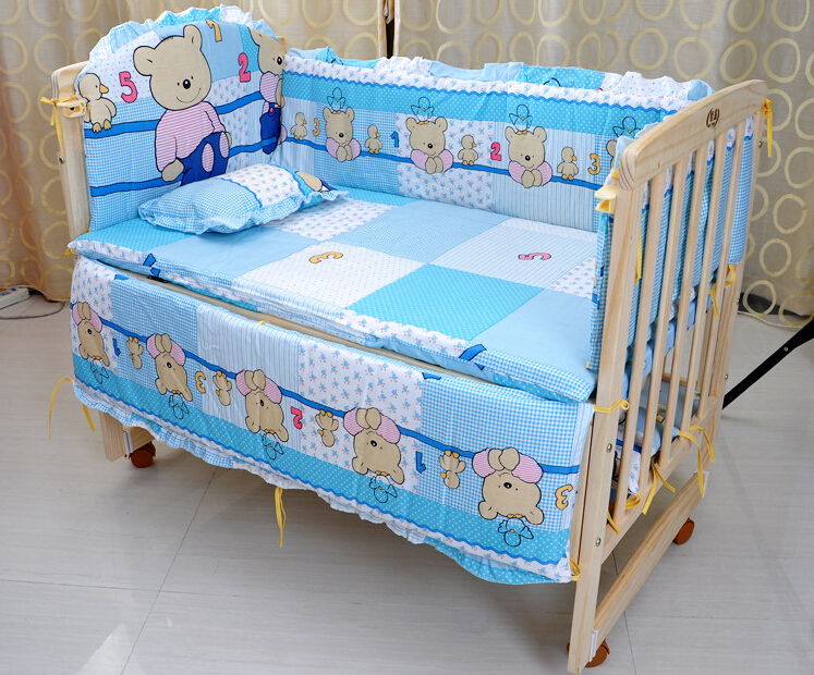 buy baby crib bedding set 5 pcs cotton