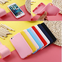NEW PASTEL CANDY MATTE SHINY SOFT SILICONE CASE BACK COVER SKIN SHELL FOR IPHONE 5S 5C 6 S 7 8 Plus X Phones Shell Fundas Coque