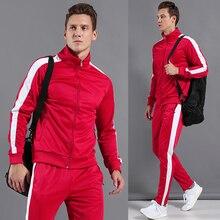 BINTUOSHI Women Sport Trainning Suit Men Children Outdoors Physical Rxercise Set Male Breathable Flexible Jackets + Pants
