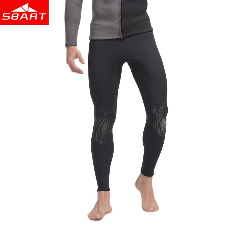 Kalhoty SBART Men Surfing Wetsuit Pants 3MM Neoprenové potápěčské chrániče kalhot Anti-UV Protect Swimsuit Anti-Medúzy Šnorchlovací kufry N