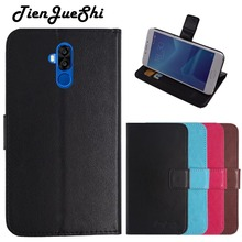 TienJueShi Flip Book Design Protect Leather Cover Shell Wallet Etui Skin Case For Oukitel K6 6 inch