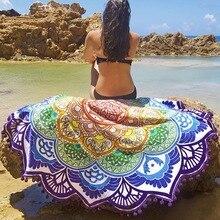 Горячие полотенца для пляжа кисточкой yoga мат ковер tapete коврик гобелен индийский мандала одеяла ковер ванная комната туристический коврик 7 цвет