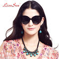 2017 new fashion mulheres uv400 polarizada óculos de sol de luxo do vintage de plástico óculos de armação feminino marca designer lsp401a