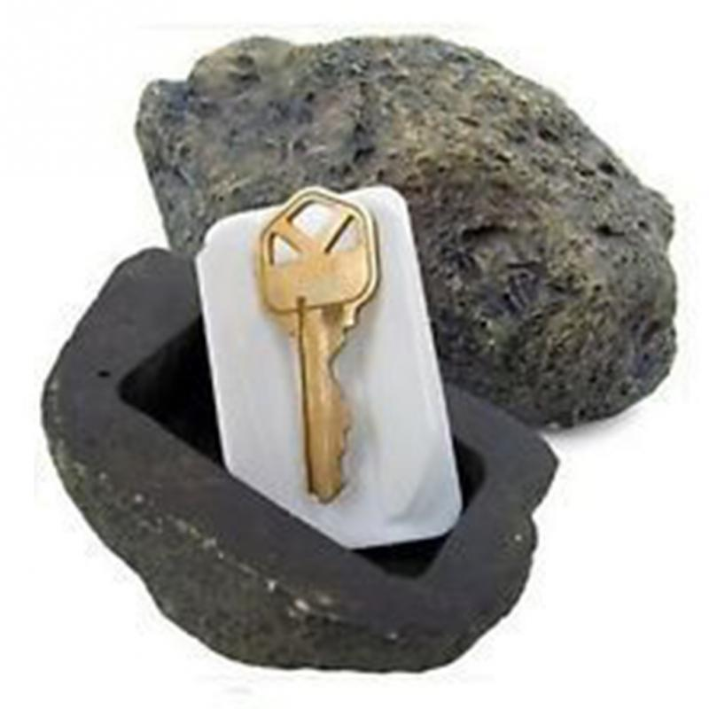 Outdoor Muddy Mud Spare Key House Safe Hidden Hide Security Rock Stone Case Box ...