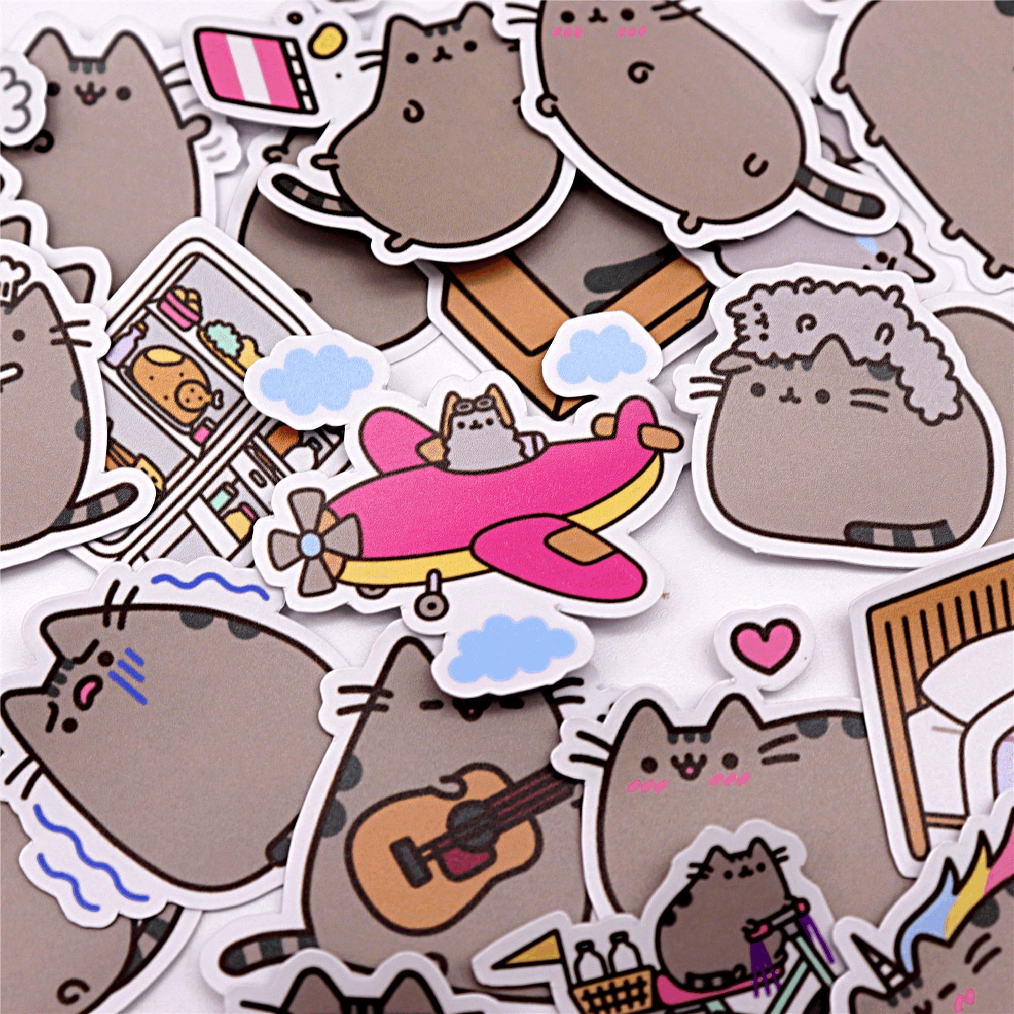 39pcs Creative Cute Self-made Fat Cat Sticker Scrapbooking Stickers /decorative Sticker /DIY Craft Photo Albums Waterproof