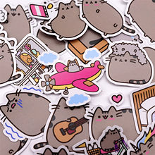 39pcs Creative cute self-made fat cat sticker scrapbooking stickers /decorative sticker /DIY craft photo albums Waterproof(China)