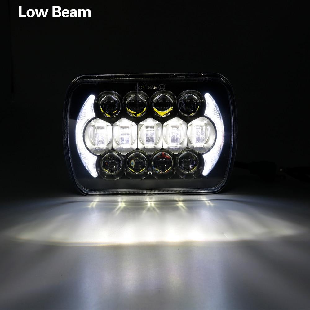 """7X6/"""" LED HID  Light Bulbs Crystal Clear Sealed Beam Headlamp Headlight Pair"""